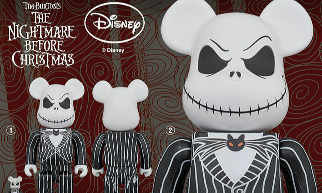 100% 400% 1000%同步 BE@RBRICK 圣诞夜惊魂【杰克】The Nightmare Before